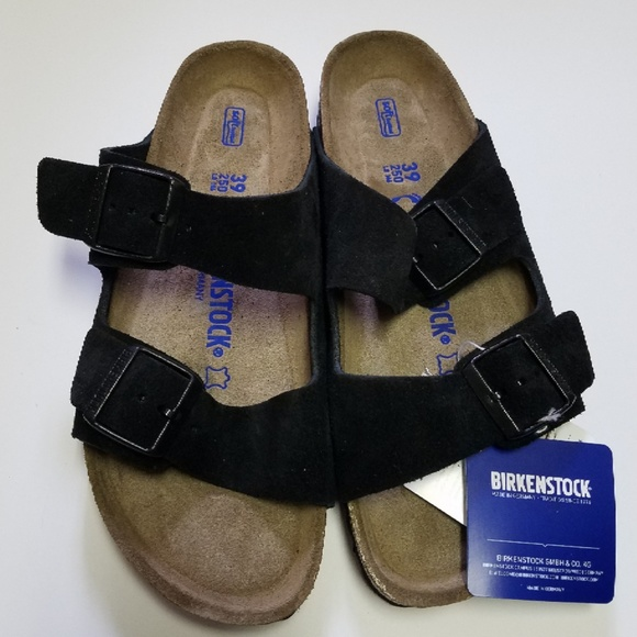 4609a0688 Birkenstock Shoes | New Arizona Black Soft Footbed Sandal | Poshmark